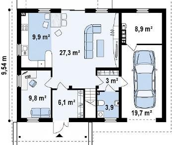 Проект дома Проект Z133, 190.2 м2