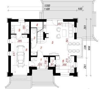 Проект  Дом в клеверках 3, 136.2 м2