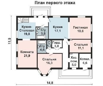 Проект дома AS-2167, 245 м2