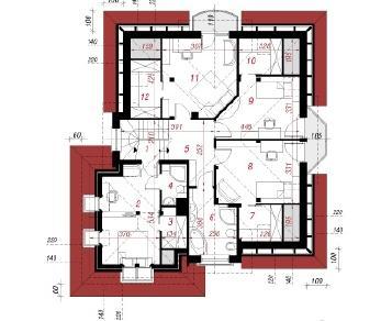 Проект  Дом под туями, 183.7 м2