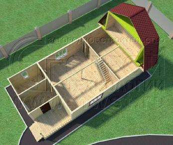 Проект дома Проект дома №109, 72 м2