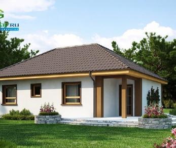 Проект дома Проект z15, 76.8 м2