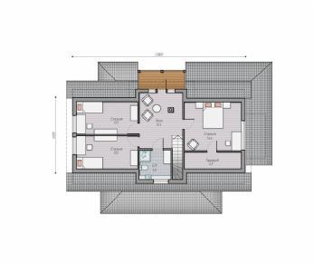 Проект  Проект загородного дома Lind 163, 223 м2