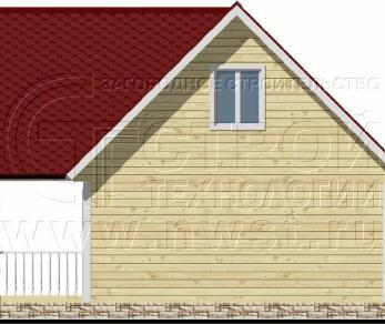 Проект дома Проект дома №66, 48 м2