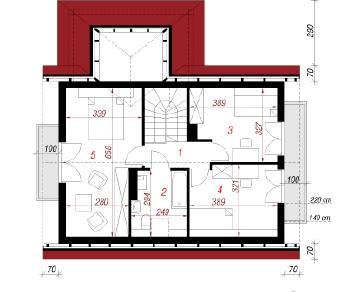 Проект  Дом под каштаном 2, 100 м2