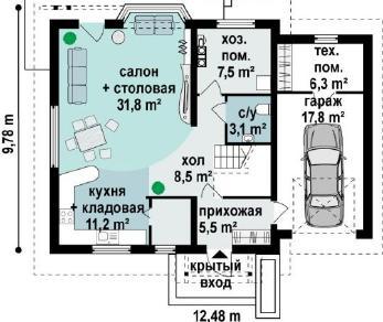 Проект дома Проект z107, 178.9 м2