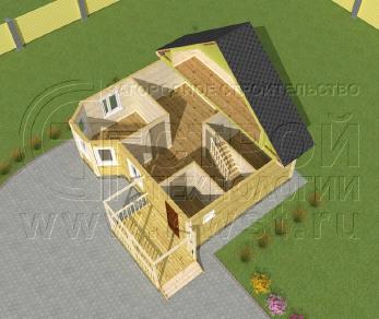 Проект дома Проект дома №22, 50 м2