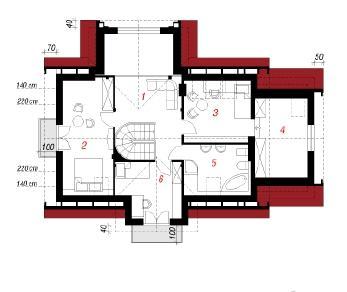 Проект  Дом в лаванде 2, 157.5 м2