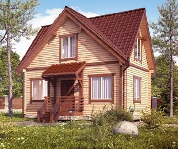 Проект  Двухэтажный дом с отделкой, 80 м2
