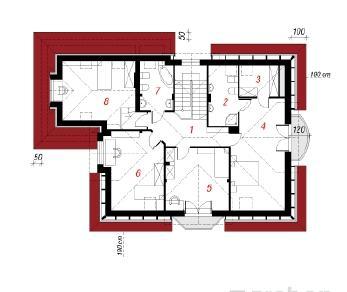 Проект  Дом в орхидеях, 215.8 м2