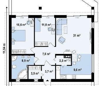 Проект дома Проект Z242, 95.1 м2