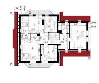 Проект  Дом в кувшинках 3, 223.5 м2
