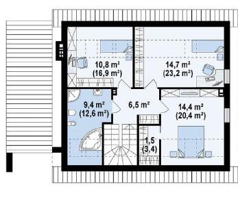 Проект дома Проект z305, 183.8 м2