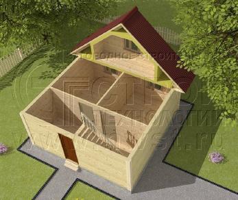 Проект дома Дачный дом 6х6 м (базовая комплектация), 36 м2