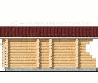 Проект бани Баня. Проект №15, 45 м2