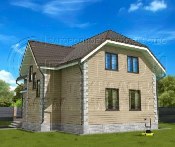 Проект дома Проект дома №126, 86 м2