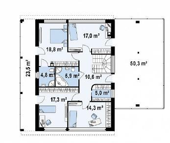 Проект дома Проект Zx5, 239.2 м2