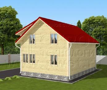 Проект дома Проект дома №137, 63 м2