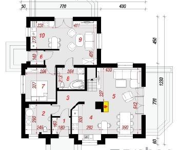 Проект  Дом в мнишках 2, 167.3 м2