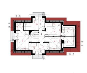 Проект  Дом в остролисте, 189 м2