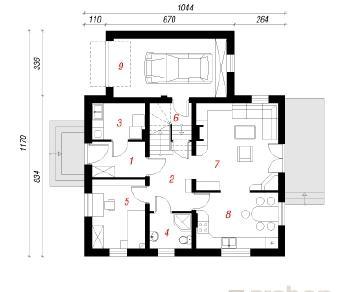 Проект  Дом в примулах 4, 150 м2