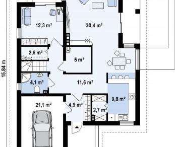 Проект дома Проект z288, 212.8 м2