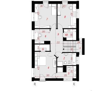 Проект  Дом под ивой, 171.9 м2