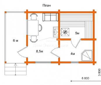 Проект бани Проект БН-29, 28.31 м2