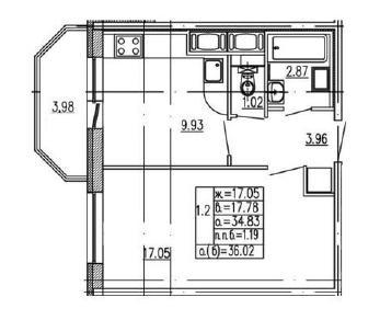 Продажа квартиры Мурино, Воронцовский бул., д.4