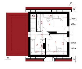 Проект  Дом в бруснике (Г), 87.9 м2