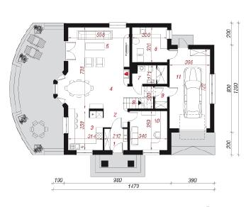Проект  Дом в чубушнике, 202.1 м2