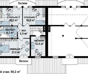 Проект дома Проект zb1, 181.6 м2