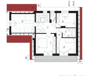 Проект  Дом на поляне, 150 м2