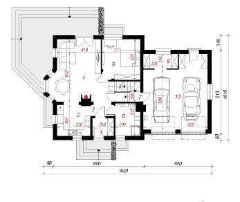 Проект  Дом в рододендронах 5 (Г2П), 272 м2