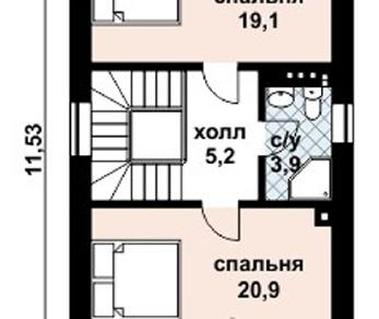 Проект дома AS-2047, 105 м2
