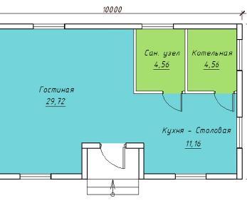 Проект  Проект 050/019 , 50 м2