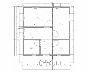 Проект  Проект дома 7 на 7 с мансардой - САГА, 109 м2