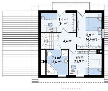 Проект дома Проект z1gl, 133 м2