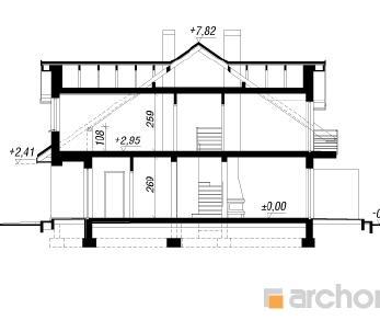 Проект  Дом в клематисах 9 (АБ), 123.5 м2