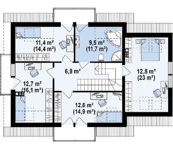 Проект дома Проект z263, 181.3 м2