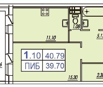 Продажа квартиры Кудрово, Европейский пр-кт, к. 1