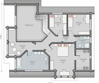 Проект  Проект загородного дома Tall 209, 222 м2