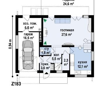 Проект дома Проект z183, 151.2 м2