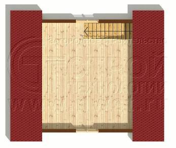 Проект бани Баня. Проект №12, 30 м2