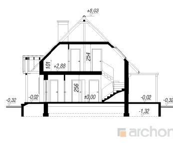 Проект  Дом в примулах , 121.6 м2