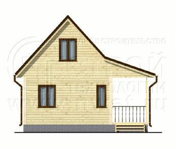Проект дома Проект дома №45, 42 м2