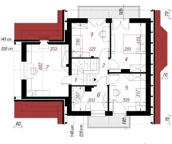 Проект  Дом в винограде 2, 115.7 м2