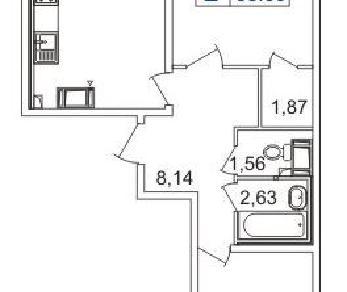 Продажа квартиры Мурино, д.1