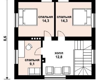 Проект дома AS-2046, 107 м2