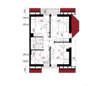 Проект  Дом в ясменнике, 147.1 м2